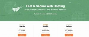 siteground共享主機價格方案