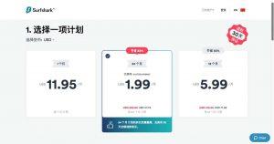 Surfshark_VPN價格計畫