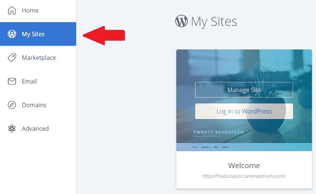 啟動bluehost網站建立wordpres